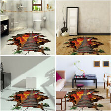 3D Flaming Art Room Floor Wall Sticker Removable Creative Decals Vinyl AU New