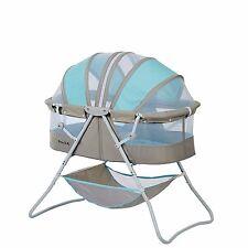 Baby Cribs And Bassinets ForGirls Boys Cradle Bedding Portable Nursery Blue/Grey