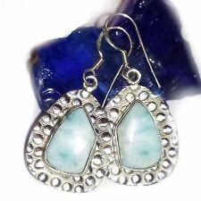 LARIMAR ATLANTIS Ohrhänger Earring 4 ECHT 925 Silber Blue Genuine Unique Unikat