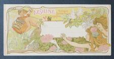 MENU DESILINE Satyre Camis Art Nouveau Jugenstil restaurant card