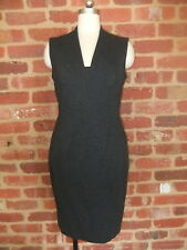 DAVID LAWRENCE AUSTRALIAN DESIGNER DRESS LADIES 10 CHARCOAL GREY WINTER STRETCH