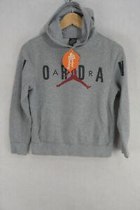 NIKE AIR JORDAN Womens Hoodie ATHLETIC SPORT Hooded PULLOVER Sweater Medium P66