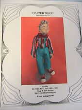 "DAPPER DOUG~BARB KEELING~sexy Senior man 1999~16"" cloth art doll pattern"