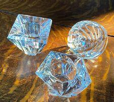 3 Lenox Crystal Votive Candle Holders