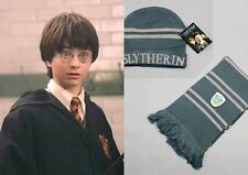 Harry Potter Slytherin Thickened Schal/Halstuch Mütze Set Kostüm Cosplay