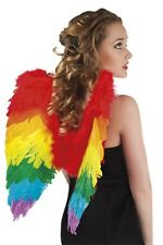 Papagei Flügel regenbogen bunte Federflügel Karneval Fasching Zubehör Papagei