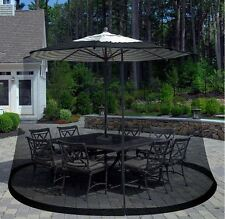 Umbrella Screen Cover Outdoor Patio Offset Mosquito Netting Furniture- Zippered