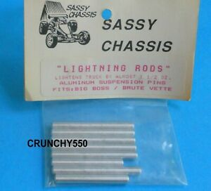 Sassy Chassis Lightning Rods Susp Pins Kyosho Big Brute Boss Vette Vintage RC