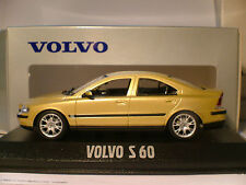 WOW EXTREMELY RARE GOLD MINICHAMPS 1/43 2001 VOLVO S60  NLA OUTSTANDING DETAIL