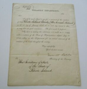 HOWELL COBB AUTOGRAPHED   LETTER FORMER SECRETARY OF THE TREASURY 1858 ANTIQUE
