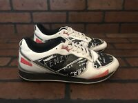 Kenzo Sneakers Running White Leather Size 8.5