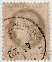 1871/73 FRANCIA CERERE 4 CENT. GRIGIO BEN CENTRATO USATO
