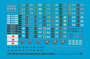 Peddinghaus-Decals 1/35 1206 Wehrmachtsuniformabzeichen No 3