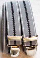 Neutrale Hosenträger extra stark extra lang 4 stabile Clip waschbar 40°blau
