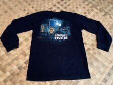 LONG SLEEVE DARK NAVY BLUE HAWAII FIVE-O BOOK EM DANNO LOGO TEE T-SHIRT SMALL