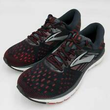 Brooks Mens Running Shoes Transcend 6 Black Red Low Top Sneakers 9 D