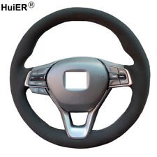 DIY Suede Car Steering Wheel Cover For Honda Accord 10 2018-2020 Insight 2019-20