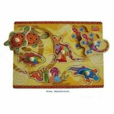 Fun Factory Wooden Aboriginal Puzzle From Baby Barn Discounts