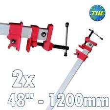 """2x 48"""" Sash Clamp Aluminium 1200mm Cramps 120cm Joiner Carpenter Woodworking"""
