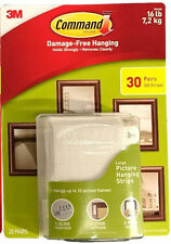 3M Command Damage-Free Large Picture Hanging Strips Package 30 Pairs/60 Strips