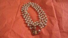 "Vintage Chanel Gripoix Baroque Pearl 68"" Sautoir Necklace Authentic"
