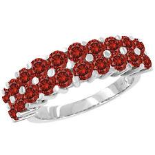 1 Carat Red SI2 Round Diamond Solitaire Ring14K White Gold Valentineday Spl.Sale