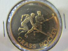 Rare 1980 MOSCOW OLYMPICS GRASS HOCKEY MEDAL Coin Official PNC Collection gold c