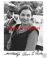 Civil Rights Rosa Parks M.L. King Signed 8x10 photo