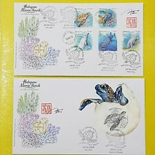Iconic Marine Life Definitive Matching 2020 Malaysia First Day Cover FDC