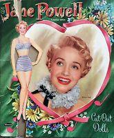 Original Movie Star JANE POWELL Paper Dolls, 1955, Excellent Cut Vintage Set