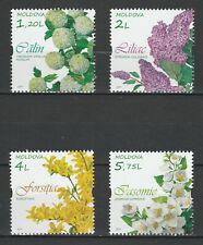 Moldova 2019 Flowers 4 MNH stamps