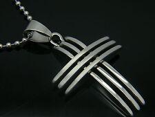 Ciondolo in Acciaio Inox 316l GRANDE CROCE Men's Women's Jewellery 01