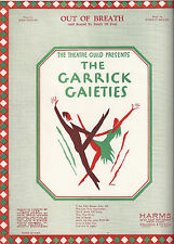 "Johnny Mercer ""GARRICK GAIETIES"" Imogene Coca / Edith Meiser 1930 Sheet Music"