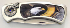 Pocket Knife with Eagle 3D Hologram Stainless Steel Brand New In Box Great Gift