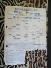 1943/44 Football League South Chelsea v Tottenham Hotspur - 8th April