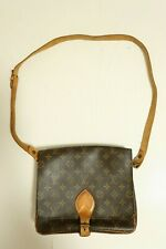 Authentic Louis Vuitton Cartouchiere GM Shoulder bag brown #7119