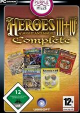 HEROES OF MIGHT AND MAGIC 4 + 3 +AddOns Deluxe Gold Complete Top Zustand