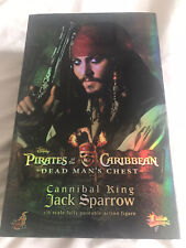 Hot Toys-Pirates of the Caribbean-Jack Sparrow-Cannibal King MMS57 RARE!