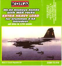 KORA Models 1/72 MER RACKS Mk.82 SNAKEYE BOMBS Extra Heavy Load for A-6 Intruder