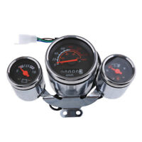Multifunction Battery / Gas / Speed Gauge Speedometer mph kph Indicator 12V