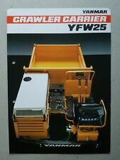 Yanmar Crawler Carrier YFW25 8 pg Leaflet Brochure 1980's?