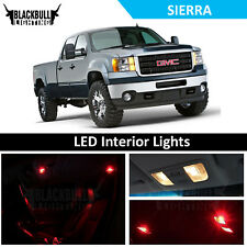 Red LED Interior Lights Accessories Package Kit fits 2007-2013 GMC Sierra