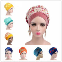 Muslim Women Velvet Long Scarf Chemo Cap Mantle Hijab Tube Head Wrap Turban New