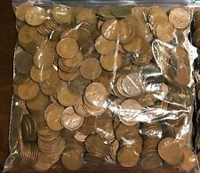 Unsearched Bag Of 500 Lincoln Wheat Penny Cents: 10 Rolls