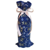 Wine Bottle Cover Gift Bag Printed Candy Bags Christmas Dinner Party Decor D