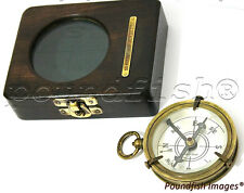 Brass Compass Dollond London – Compass with fitted Hard-wood Case - Collectable