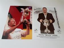 MARTIN WOLFIE ADAMS SIGNED REPRINT WORLD DARTS CHAMPION 2007 PHOTOGRAPHS