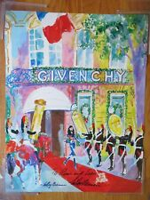 LEROY NEIMAN signed GIVENCHY Fashion and Perfume House in Provence France Poster