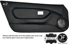 BLUE STICH 2X FULL DOOR CARD TRIM LEATHER COVERS FITS MG MGF MK1 95-99 STYLE 2