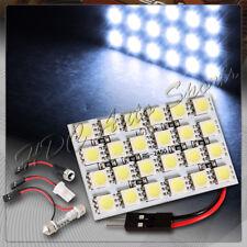 47mm x 30mm 24 SMD LED Panel Interior Dome/Map Light W/ T10+Festoon+BA9S - White